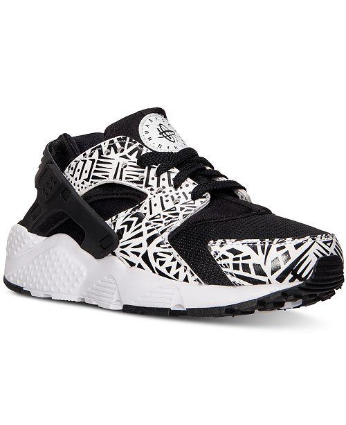 6b7a9bac49f ... Nike Big Boys  Huarache Run Print Running Sneakers from Finish ...