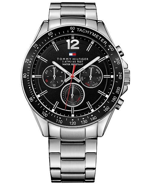 Tommy Hilfiger Men's Sophisticated Sport Stainless Steel Bracelet Watch 46mm  1791104