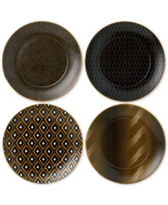 Arris Set of 4 Accent Tea Plates