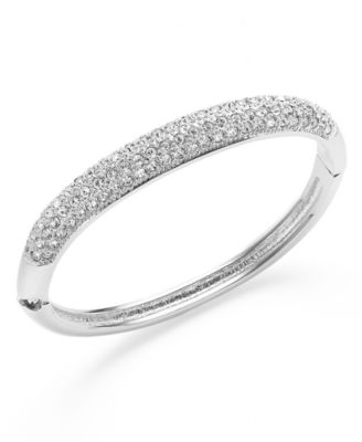 Image of Charter Club Clear Glass Pave Bangle