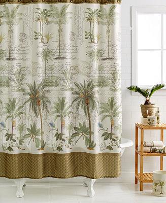 Avanti Colony Palm Shower Curtain & Reviews - Shower