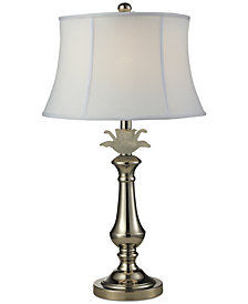 Dale Tiffany White Flower Table Lamp