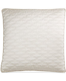 Hotel Collection Woven Texture Quilted European Sham