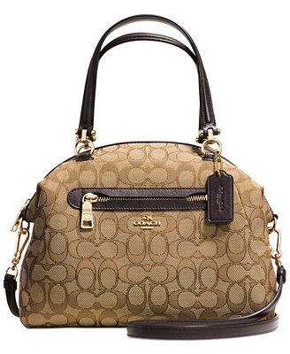 coach prairie satchel in signature canvas handbags