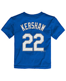 Majestic Toddlers' Clayton Kershaw Los Angeles Dodgers Player T-Shirt