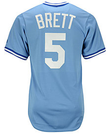 Majestic George Brett Kansas City Royals Cooperstown Replica Jersey