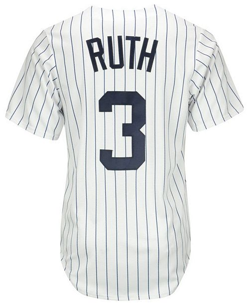 Majestic Babe Ruth New York Yankees Cooperstown Replica Jersey