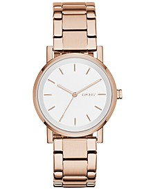 Women's Soho Rose Gold-Tone Stainless Steel Bracelet Watch 34mm, Created for Macy's