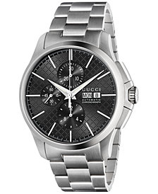 Gucci Men's Swiss Automatic Chronograph G-Timeless Stainless Steel Bracelet Watch 44mm YA126264