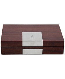 "Lacquered ""Natural Walnut"" Wood Valet Box"