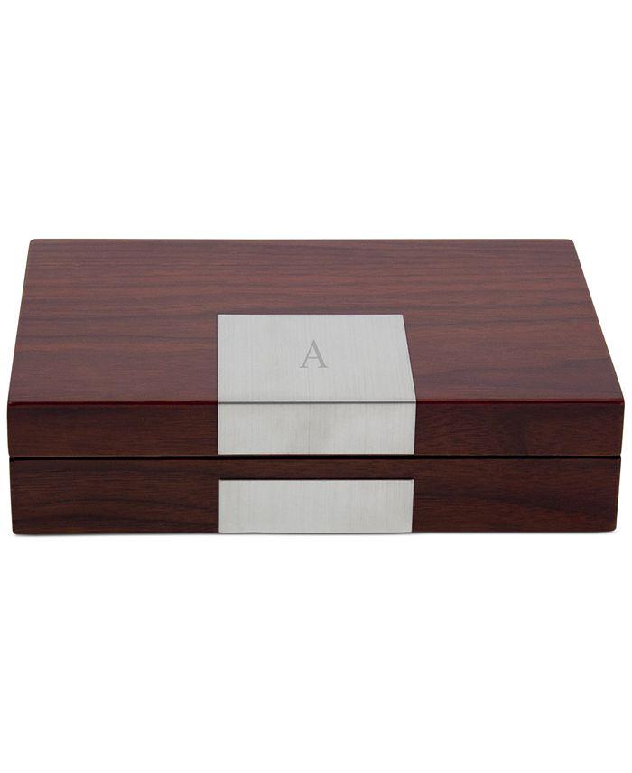 Bey-Berk - High Lacquered Walnut Wood Valet Box