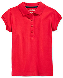 Nautica School Uniform Polo, Big Girls Plus