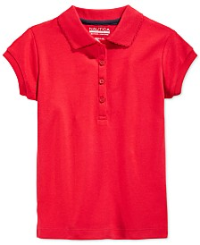 Nautica Big Girls School Uniform Polo