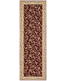"CLOSEOUT! KM Home Area Rug, Princeton Floral Red 2'7"" x 7'10' Runner Rug"