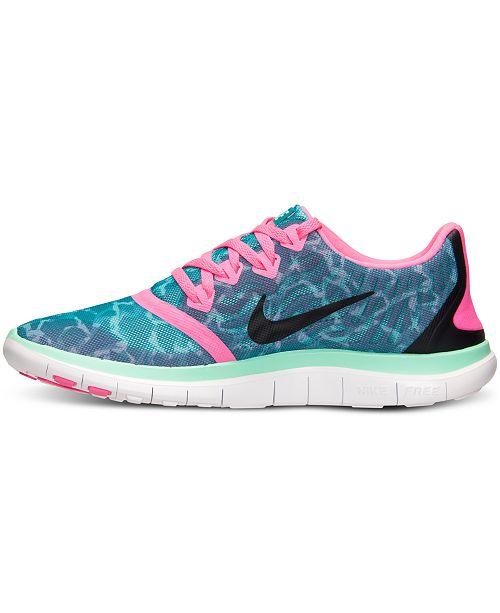 Nike Women's Free 4.0 V5 Print Running Sneakers from Finish