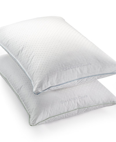 Charter Club 50% European Feather & 50% European Down Medium/Firm Density King Pillow, Hypoallergenic UltraClean Down, Created for Macy's