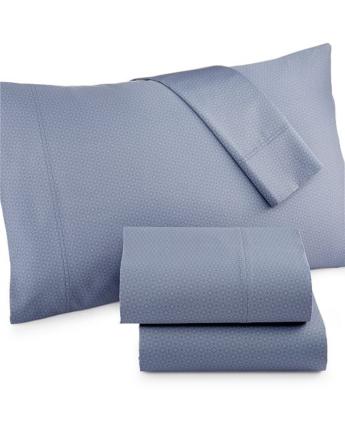 Charter Club CLOSEOUT! Diamond Printed 500 Thread Count Pima Cotton King Sheet Set, Created for Macy's
