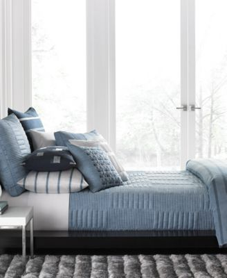Colonnade Blue Twin Coverlet