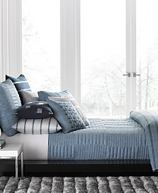 Hotel Collection Colonnade Blue Coverlet Collection, Created for Macy's