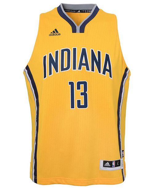 buy popular 248fb 7b0d6 adidas Kids' Paul George Indiana Pacers Swingman Jersey, Big ...