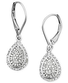Diamond Teardrop Earrings in 14k White Gold (1/2 ct. t.w.), Created for Macy's