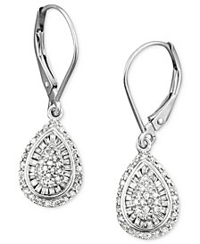 Wrapped in Love™ Diamond Teardrop Earrings in 14k White Gold (1/2 ct. t.w.), Created for Macy's