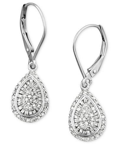 Wred In Love Diamond Teardrop Earrings 14k White Gold 1 2 Ct