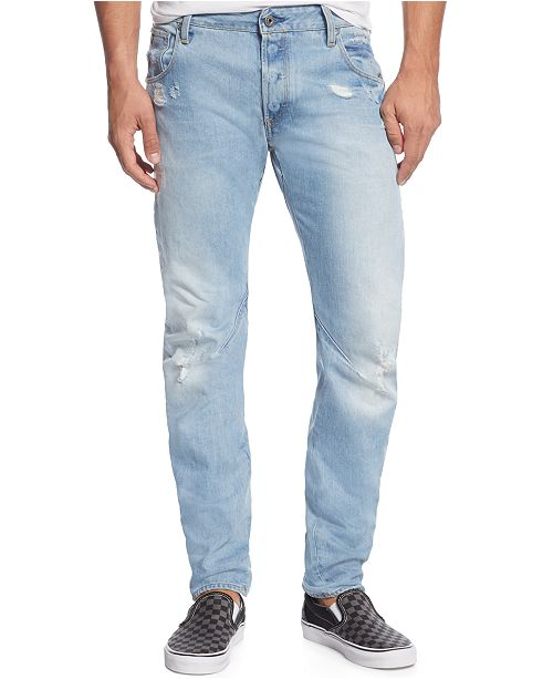 G-Star Raw Arc 3D Slim-Fit Ripped & Destroyed Jeans