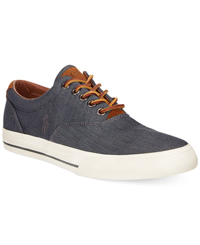 Ralph Lauren Menswear - Ralph Lauren Vaughn Canvas Shoes Brown