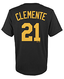MajesticRoberto Clemente Pittsburgh Pirates Player T-Shirt