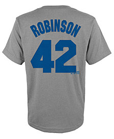 Majestic Jackie Robinson Brooklyn Dodgers Player T-Shirt, Big Boys (8-20)