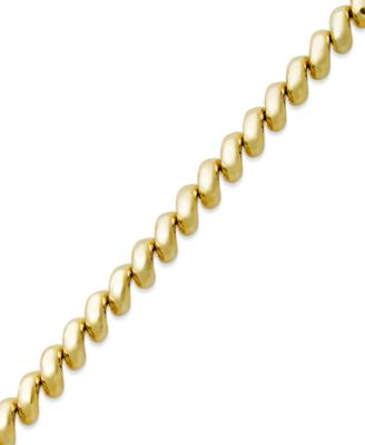 San Marco Link Bracelet in 14k Gold Bracelets Jewelry Watches