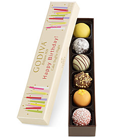 Godiva 6-Pc. Happy Birthday Truffle Flight