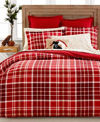 Martha Stewart Collection Winter Tartan Flannel Duvet