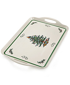 Spode Christmas Tree Large Handled Tray