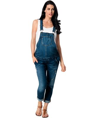 BLANK NYC Maternity Denim Overalls, Medium Wash - Maternity ...