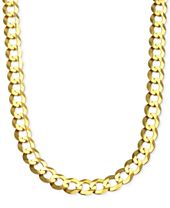 Cuban Chain Link Necklace in Solid 10k Gold