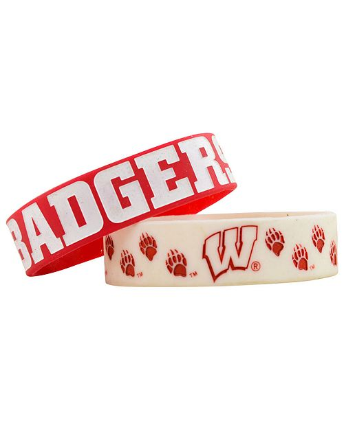Forever Collectibles Wisconsin Badgers 2-Pack Phat Bandz