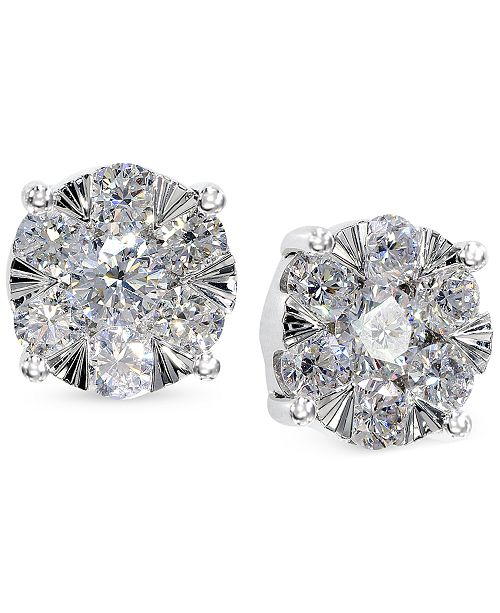 e493f4c2f EFFY Collection EFFY Diamond Bouquet Stud Earrings (7/8 ct. t.w.) in ...