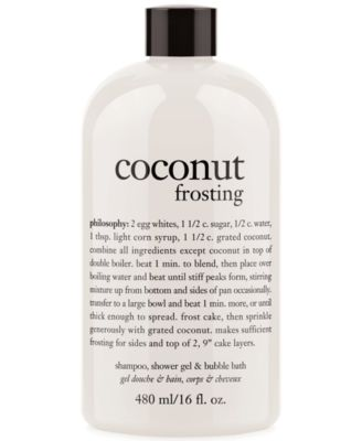 coconut frosting 3-in-1 shampoo, shower gel and bubble bath, 16 oz.