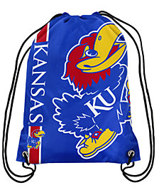 Forever Collectibles Kansas Jayhawks Big Logo Drawstring Bag