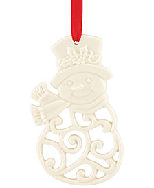 Lenox Snowman Charm Ornament, Created for Macy's