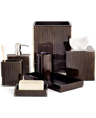Bathroom Accessories Hotel Collection closeout! hotel collection, wood veneer collection, created for