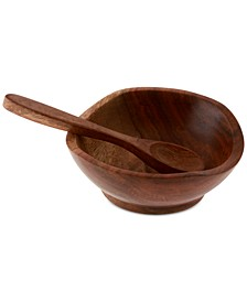 Wood Pinch Bowl with Spoon