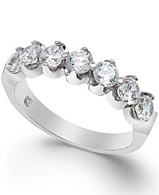 Certified Diamond Scallop Ring (1/2 - 2 ct. t.w.) in 14k White Gold