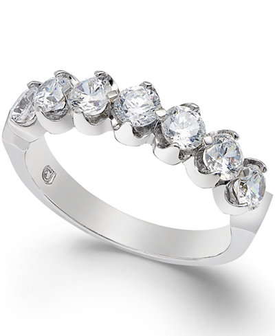 Certified Diamond Scalloped Ring (1 ct. t.w.) in 14k White Gold