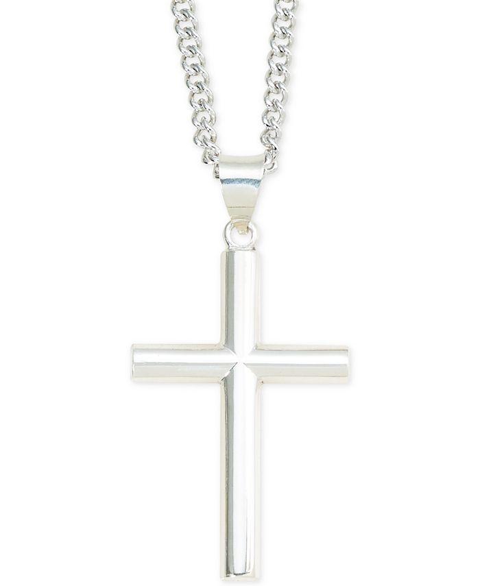 Macy's - Cross Pendant Necklace in Sterling Silver