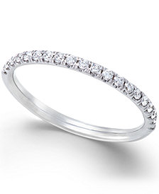 X3 Certified Diamond Band Ring (1/4 ct. t.w.) in 18k White Gold, Created for Macy's
