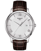 178a39dad79 Tissot Men s Swiss Tradition Brown Leather Strap Watch 42mm T0636101603800