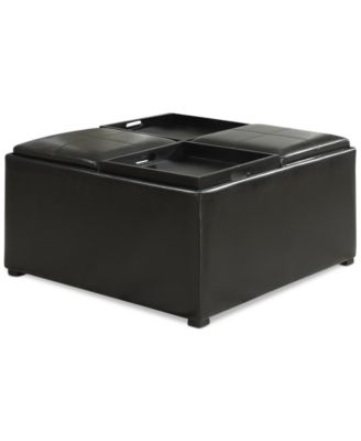 Avalon Faux Leather Coffee Table Storage Ottoman, Quick Ship. 2 Reviews.  Main Image; Main Image ...